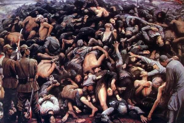 Representação do Massacre de Nankin - por Li Zijian, 1992